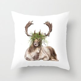 Derp Deer Throw Pillow