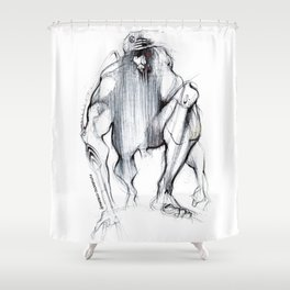 Futuristic Cyborg 1 Shower Curtain