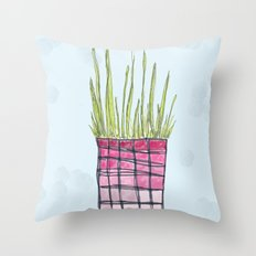 Little Potted Plant Throw Pillow