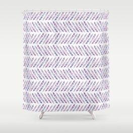 Herringbone - in purple watercolour Shower Curtain