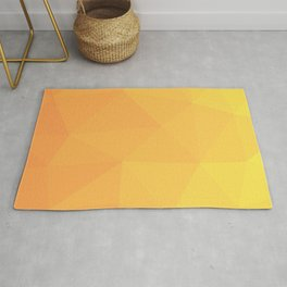 Abstract Geometric Gradient Pattern between Light Orange and Light Yellow Rug