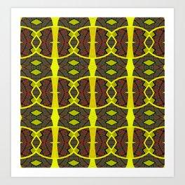 Vintage African Ovals Fabric Geometry Art Print