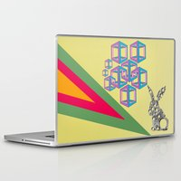 hipster Laptop & iPad Skins featuring hipster by mark ashkenazi