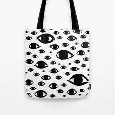 The Eyes Have It Ink Pattern (White) Tote Bag