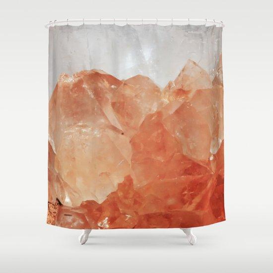 BLOOD ORANGE QUARTZ Shower Curtain