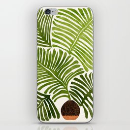 Summer Fern / Simple Modern Watercolor iPhone Skin