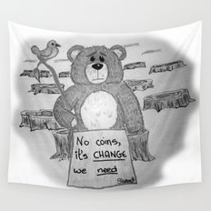 Sad bear 2 Wall Tapestry