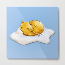 Sunny-side Up Cat Metal Print