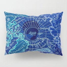 North Pole Neon Map Pillow Sham