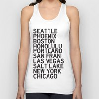 cities Tank Tops featuring USA CITIES by Party in the Mountains