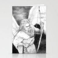 """archer Stationery Cards featuring Archer by Barbara """"Yuhime"""" Wyrowińska"""