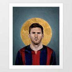 LM (2016) - Football Icon Art Print