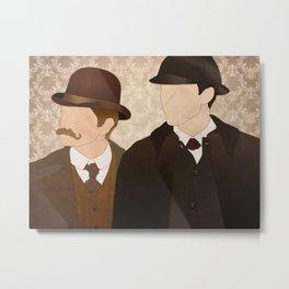 Watson & Holmes Metal Print