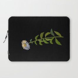Aster Sibericus Mary Delany Floral Paper Collage Delicate Vintage Flowers Laptop Sleeve