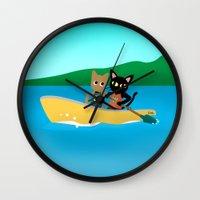 rowing Wall Clocks featuring Rowing by BATKEI (Keiko W)
