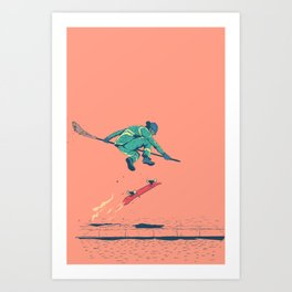[ LET YOURSELF GO! ] The council worker.  Art Print