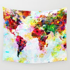 World Map - 4 Wall Tapestry