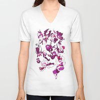 dangan ronpa V-neck T-shirts featuring Hope's Peak Academy by Blue