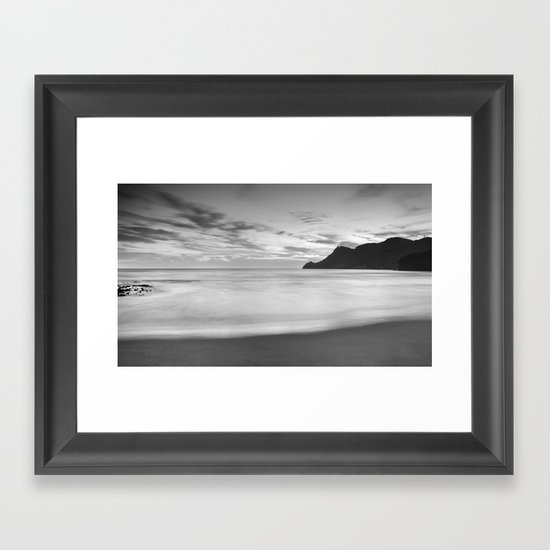 Silver sea. BN Framed Art Print