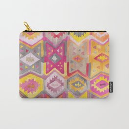 Kilim Me Softly in Pink Carry-All Pouch