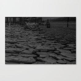 Ice on the Hudson II Canvas Print
