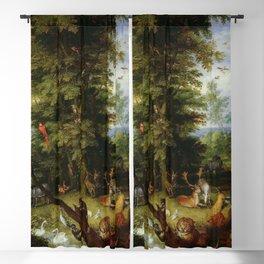 "Jan Brueghel The Elder ""Adam and Eve in the Garden of Eden"" Blackout Curtain"