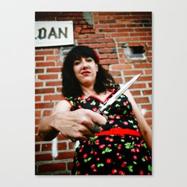 Alley danger Canvas Print