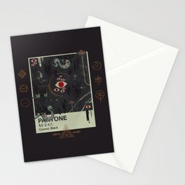 Cosmic Black Stationery Cards
