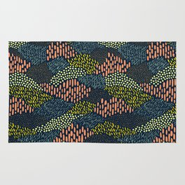 Dashes and dots // abstract pattern Rug