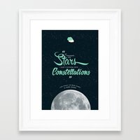fault in our stars Framed Art Prints featuring The Fault in Our Stars by thatfandomshop