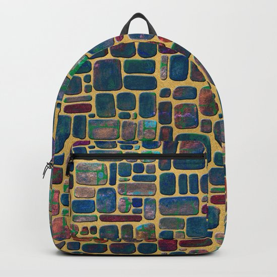 Abstract Tile Mosaic Backpack