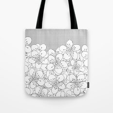 Cherry Blossom Grid - In Memory of Mackenzie Tote Bag