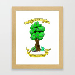 Strong as a Tree Framed Art Print