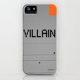 VILLAIN! iPhone Case