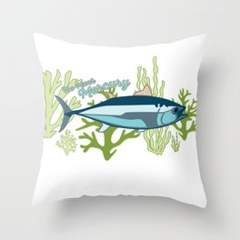 Too Much Mercury Throw Pillow