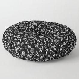 Modern Witch - Black Floor Pillow