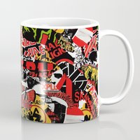 bands Mugs featuring BANDS by DIVIDUS