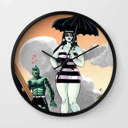 Goth's Day Out Wall Clock