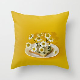 my bread has blossomed Throw Pillow