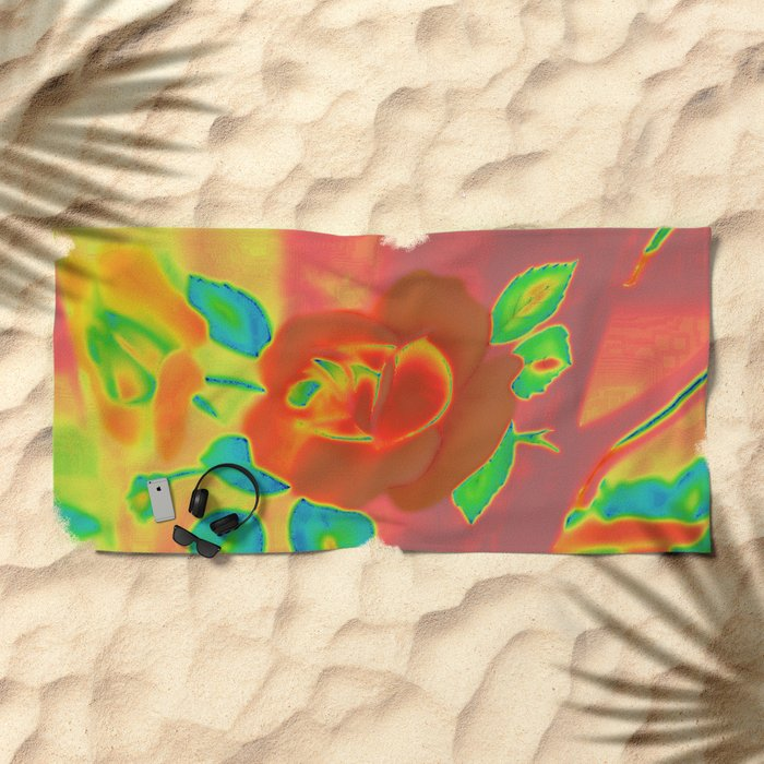 Teacup | Still Life | Vintage Coral Rose Teacup | Nadia Bonello Beach Towel