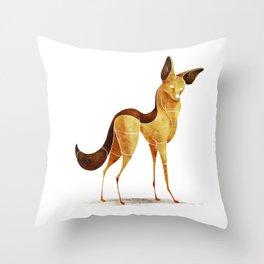 jackal Throw Pillow