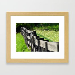 Horse Fence Framed Art Print
