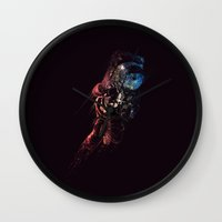 spaceman Wall Clocks featuring Spaceman by MUSENYO