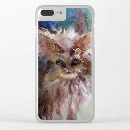 Halloween Cat Clear iPhone Case
