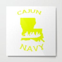 Cajun Navy Shirt Metal Print
