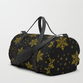 gold stars on black pattern Duffle Bag