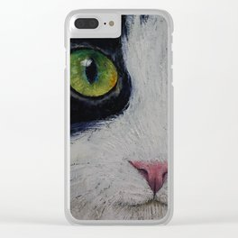 Japanese Bobtail Cat Clear iPhone Case
