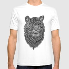 Tiger Mens Fitted Tee MEDIUM White