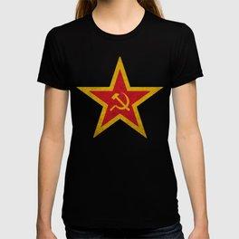 USSR Cold War Soviet Union Flag Communist Star Communism Russia T-shirt