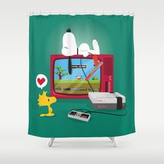 Duck Game Shower Curtain